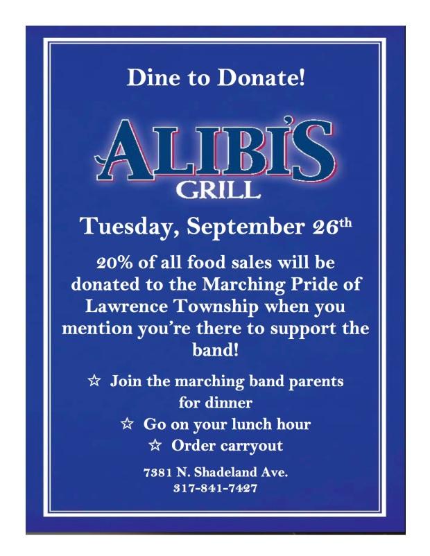 Alibi's flyer